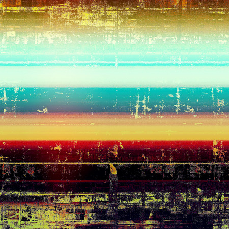 Aged vintage background with weathered texture, grunge design elements and different color patterns: yellow (beige); black; blue; red (orange); purple (violet); white Stock Photo