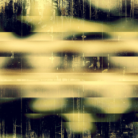 eroded: Vintage torn texture or stylish grunge background with ancient design elements and different color patterns: yellow (beige); brown; black; green; purple (violet); gray