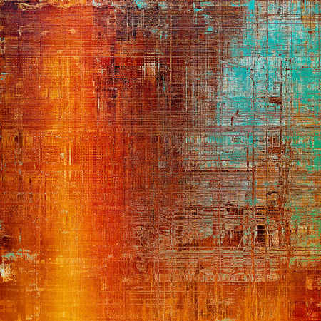 eroded: Grunge antique frame, vintage style background. With different color patterns: yellow (beige); brown; green; blue; red (orange); pink Stock Photo