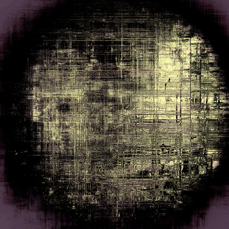 eroded: Spherical rough textured backdrop, abstract vintage background with different color patterns: yellow (beige); black; purple (violet); gray