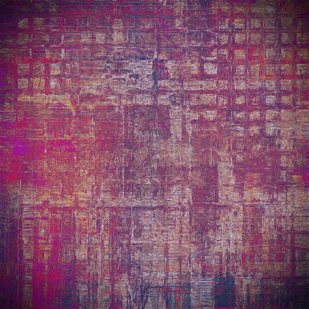 eroded: Old style design, textured grunge background with different color patterns: brown; red (orange); purple (violet); gray; pink