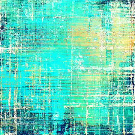 Old crumpled grunge background or ancient texture. With different color patterns: yellow (beige); green; blue; white; cyan Stock Photo