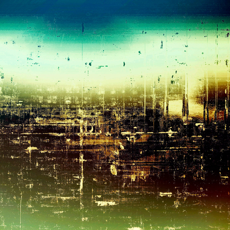 exceptional: Grunge background with vintage style graphic elements, retro feeling composition and different color patterns: yellow (beige); brown; black; green; blue; purple (violet) Stock Photo