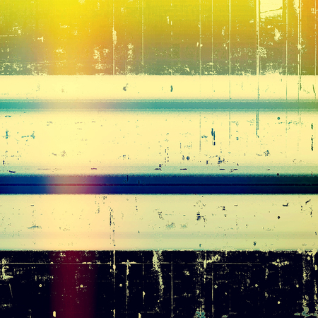 obscure: Retro style background with grungy vintage texture and different color patterns: green; blue; purple (violet); yellow (beige); cyan; black