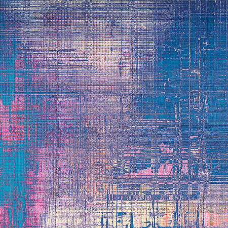 eroded: Grunge vintage template or antique background with different color patterns: gray; blue; purple (violet); cyan; pink Stock Photo
