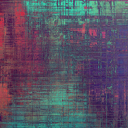 Grunge texture or background with retro design elements and different color patterns: blue; red (orange); purple (violet); cyan; pink