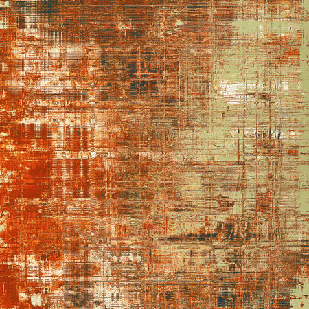 eroded: Retro background with vintage style design elements, scratched grunge texture, and different color patterns: gray; green; red (orange); yellow (beige); brown