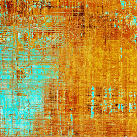 eroded: Art graphic texture for grunge abstract background. Aged colorful backdrop with different color patterns: blue; red (orange); yellow (beige); brown; cyan