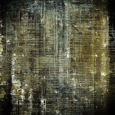 eroded: Background with dirty grunge texture, vintage style elements and different color patterns: gray; yellow (beige); brown; white; cyan; black