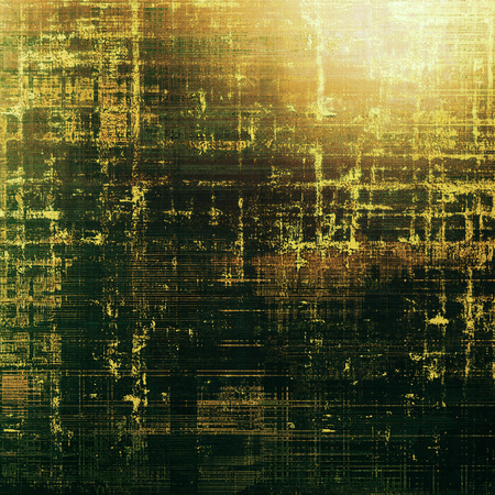 eroded: Old style distressed vintage background or texture. With different color patterns: gray; green; yellow (beige); brown; black