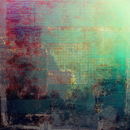 eroded: Creative grunge background in vintage style. Faded shabby texture with different color patterns: gray; green; blue; red (orange); purple (violet); brown