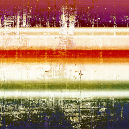 Abstract grunge background or aged texture. Old school backdrop with vintage feeling and different color patterns: green; blue; red (orange); purple (violet); yellow (beige); white