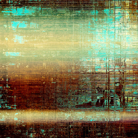 Mottled vintage background with grunge texture and different color patterns: green; blue; red (orange); yellow (beige); brown; cyan