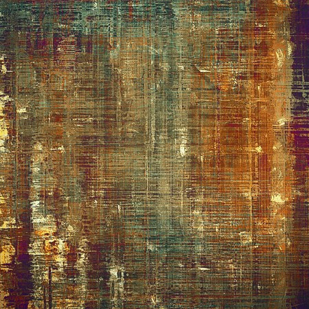 Ancient textured background or shabby backdrop. With different color patterns: gray; green; red (orange); purple (violet); yellow (beige); brown Stock Photo