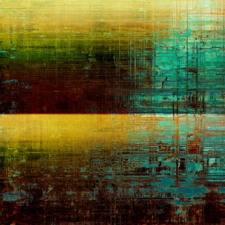 Old background with grunge decorative elements. Retro composition for your design. With different color patterns: green; blue; yellow (beige); brown; cyan Stock Photo