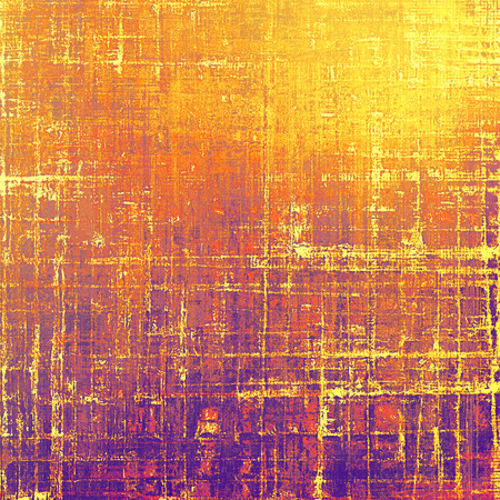 weave: Grunge antique frame, vintage style background. With different color patterns: red (orange); purple (violet); yellow (beige); brown; pink Stock Photo
