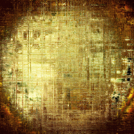 Retro grunge vintage background or weathered antique texture with different color patterns: yellow (beige); brown; gray; red (orange)