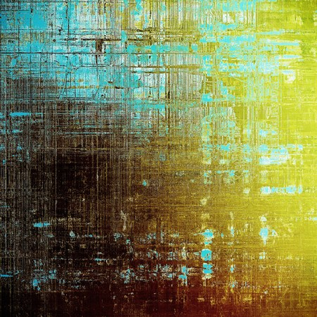 Retro texture used as abstract grunge background. Shabby backdrop with different color patterns: yellow (beige); brown; blue; white; cyan