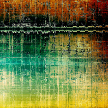 tinted: Cute colorful grunge texture or tinted vintage background with different color patterns: yellow (beige); brown; green; blue; red (orange); black Stock Photo