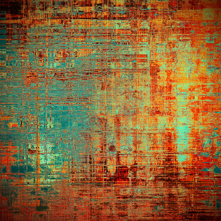 weathered: Retro vintage colored background with noise effect; grunge texture with different color patterns: yellow (beige); brown; blue; red (orange); cyan