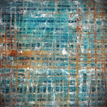 Grunge background or vintage texture in traditional retro style. With different color patterns: brown; blue; gray; red (orange); white; cyan