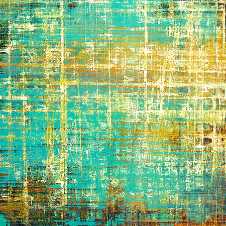 Stylish grunge texture, old damaged background. With different color patterns: yellow (beige); brown; green; blue; red (orange); cyan