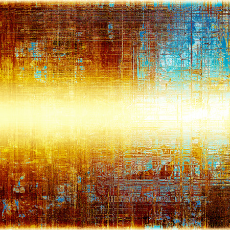 Background with grunge elements on vintage style old texture. With different color patterns: yellow (beige); brown; blue; red (orange); white Stock Photo