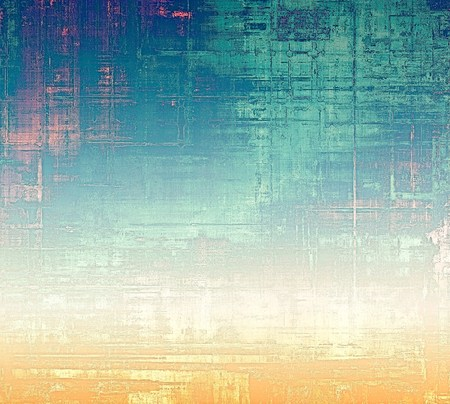 surrounding: Abstract grunge background or damaged vintage texture. With different color patterns: yellow (beige); blue; white; cyan; pink Stock Photo