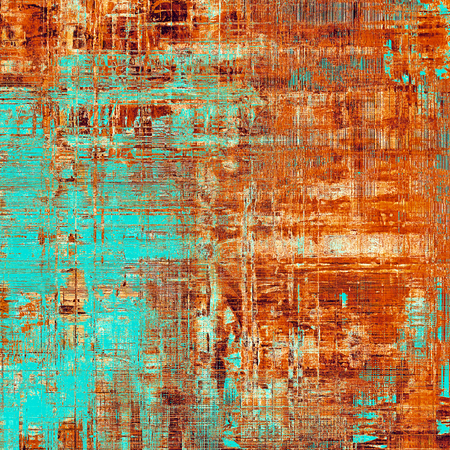 Colorful grunge background, tinted vintage style texture. With different color patterns: yellow (beige); brown; blue; red (orange); cyan Stock Photo