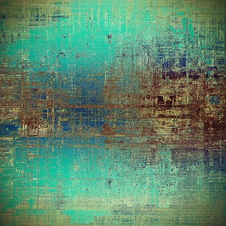 Decorative vintage texture or creative grunge background with different color patterns: yellow (beige); brown; gray; green; blue; cyan