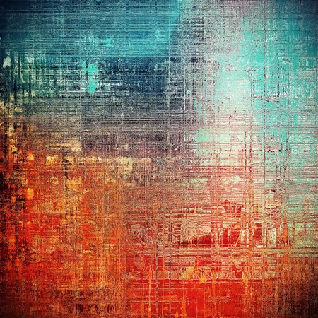 grime: Retro abstract background, vintage grunge texture with different color patterns: yellow (beige); blue; red (orange); cyan; pink
