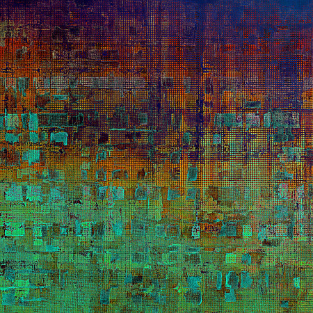 eroded: Vintage texture, old style frame decoration with grunge graphic elements and different color patterns: green; blue; red (orange); purple (violet); cyan; pink