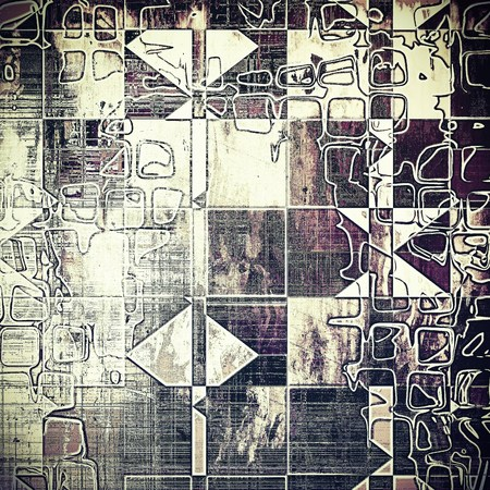 obscure: Geometric colorful abstract retro background, aged vintage texture. With different color patterns: gray; purple (violet); black; white; pink