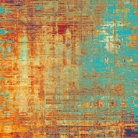 Retro style grunge background, mottled vintage texture. With different color patterns: yellow (beige); brown; blue; red (orange)