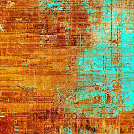 Grunge texture or background with retro design elements and different color patterns: yellow (beige); brown; blue; red (orange); cyan Stock Photo