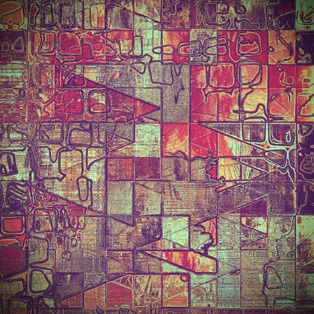 obscure: Geometric grunge background for a creative vintage style poster. With different color patterns: yellow (beige); brown; gray; red (orange); purple (violet); cyan