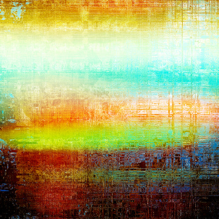 raw materials: Colorful grunge texture or background with vintage style elements and different color patterns: yellow (beige); brown; blue; red (orange); cyan; white