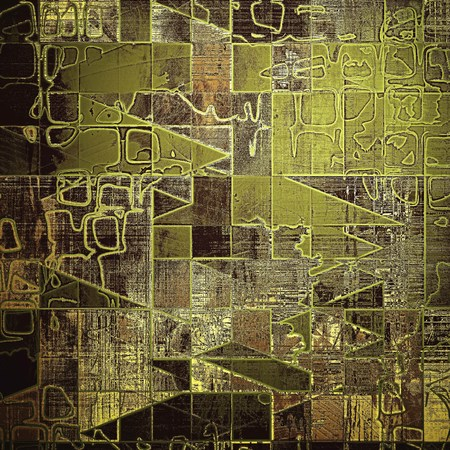 smudged: Geometric scratched vintage colorful background, designed grunge texture. With different color patterns: yellow (beige); brown; gray; green; black
