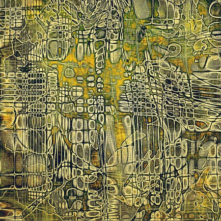 gray thread: Grunge texture, scratched surface or vintage background. With different color patterns: yellow (beige); brown; gray; green; black