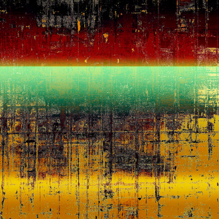 Art graphic texture for grunge abstract background. Aged colorful backdrop with different color patterns: yellow (beige); brown; green; red (orange); black; cyan