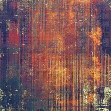 urban decay: Abstract grunge background or aged texture. Old school backdrop with vintage feeling and different color patterns: yellow (beige); brown; red (orange); purple (violet); pink