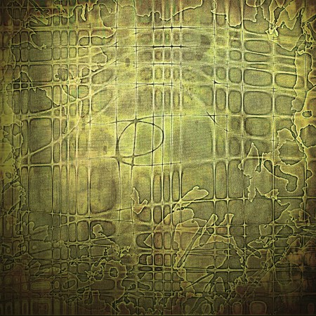 veined: Veined grunge background or scratched texture with vintage feeling and different color patterns: yellow (beige); brown; gray; green Stock Photo
