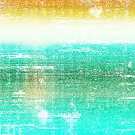 Grunge background with vintage style graphic elements, retro feeling composition and different color patterns: yellow (beige); green; blue; cyan; white Stock Photo