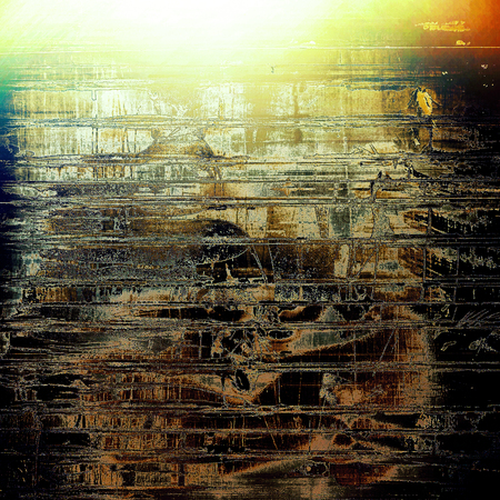 Grunge background or texture with vintage frame design and different color patterns: yellow (beige); brown; green; red (orange); black