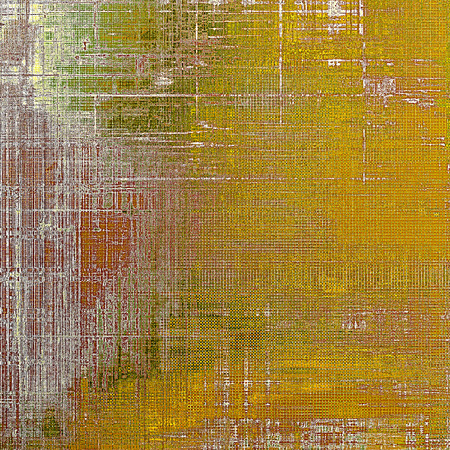 raw materials: Abstract vintage background with faded grungy texture. Aged backdrop with different color patterns: yellow (beige); brown; gray; green; red (orange) Stock Photo