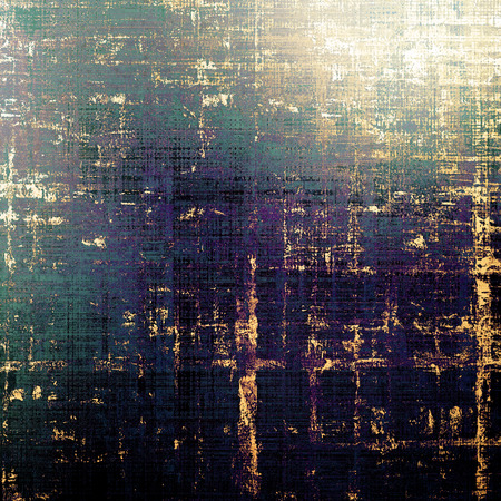 eroded: Vintage texture, old style frame decoration with grunge graphic elements and different color patterns: yellow (beige); brown; green; blue; purple (violet); black
