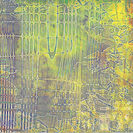 grime: Grunge scratched background, abstract vintage style texture with different color patterns: yellow (beige); brown; gray; green