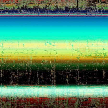 Highly detailed scratched texture, aged grungy background. Vintage style composition with different color patterns: yellow (beige); green; blue; red (orange); black; white Stock Photo