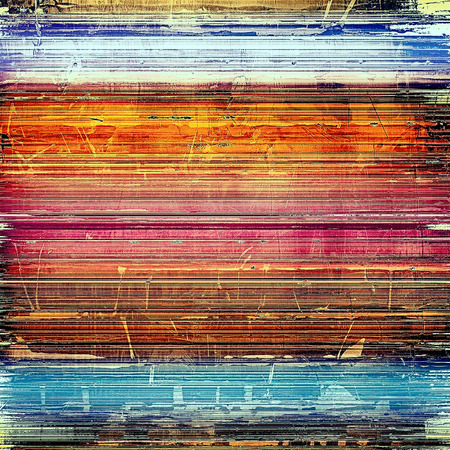 Old school aged texture or background for retro grunge design. With different color patterns: yellow (beige); brown; blue; red (orange); purple (violet) Stock Photo