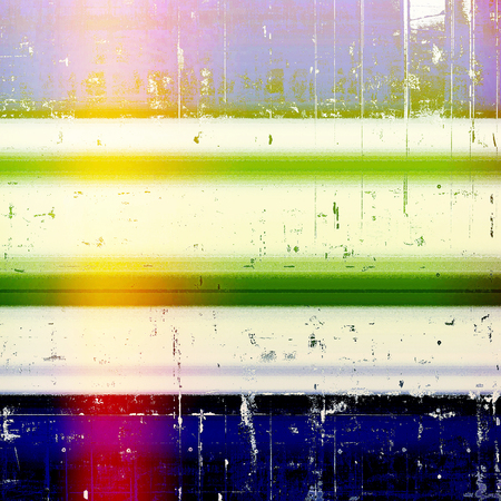patched: Retro colorful background or creative old style texture with different color patterns: yellow (beige); green; blue; red (orange); purple (violet); white Stock Photo
